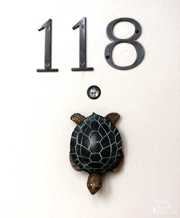 Handy girl purchase it here all weather sea turtle door knocker