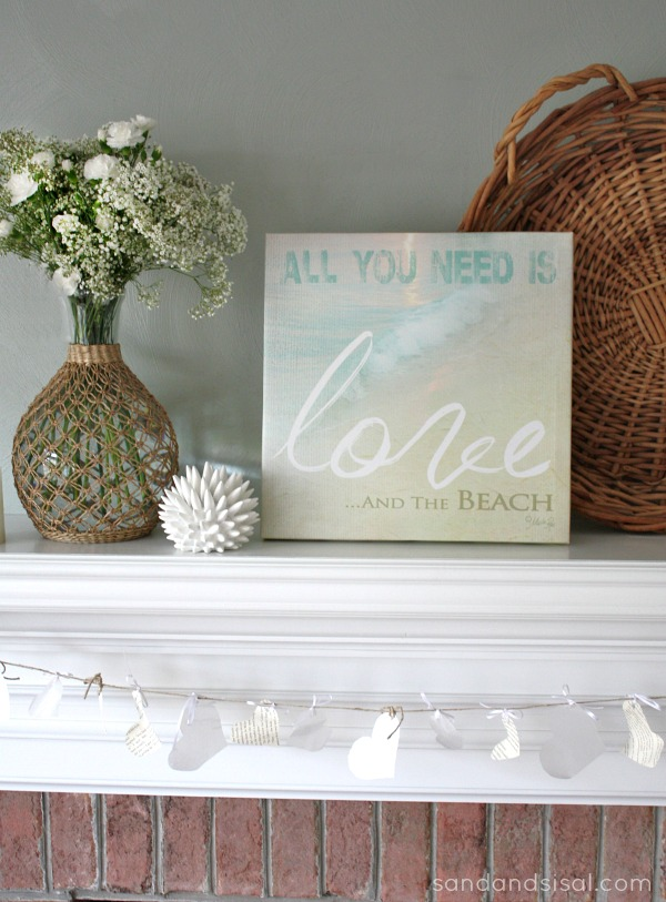 Coastal Valentine's Decor