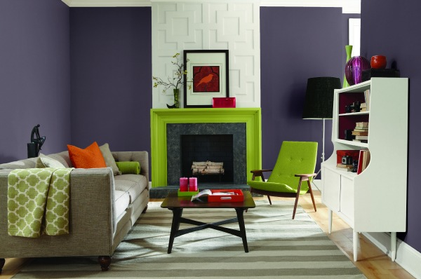 Exclusive Plum Living Room