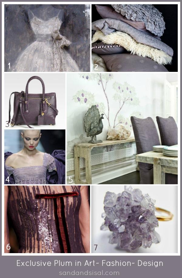 Exclusive Plum in art fashion design