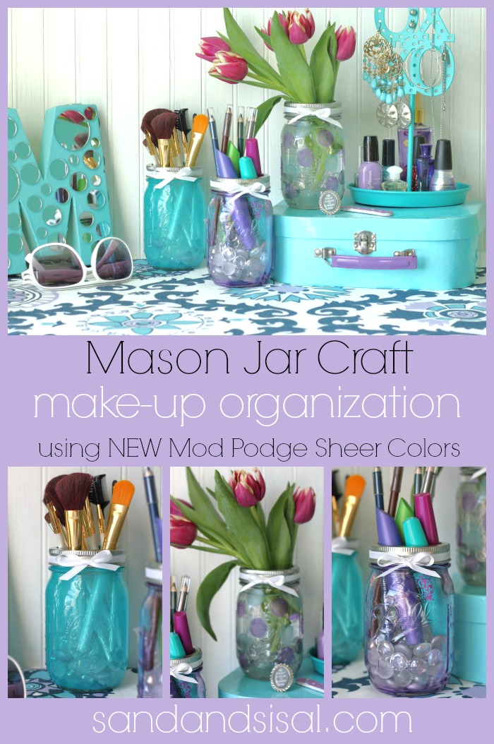 Mason jars sponge paint brush sponge dabber ribbon for decoration