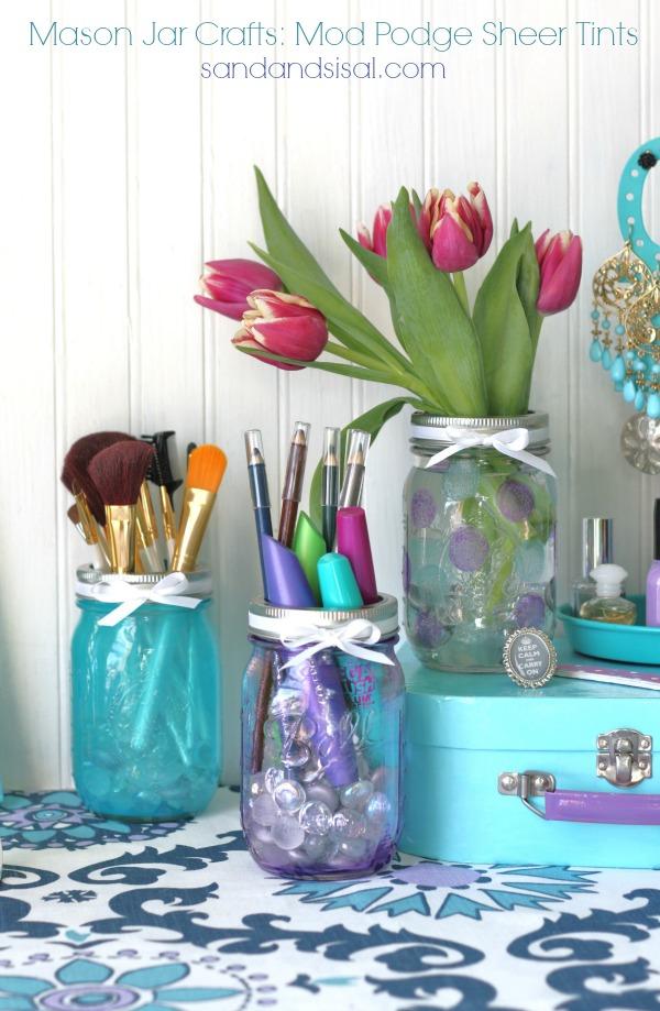Mason Jar Crafts Mod Podge Sheer Tints