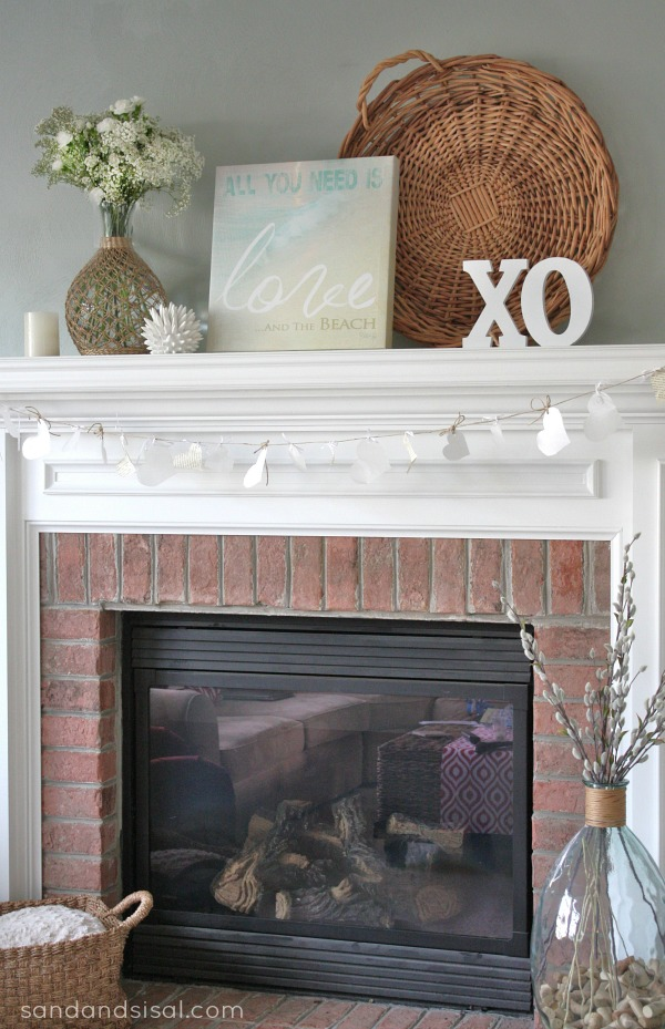 Neutral Valentine's Mantel