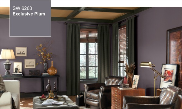 Sherwin Williams Exclusive Plum Den