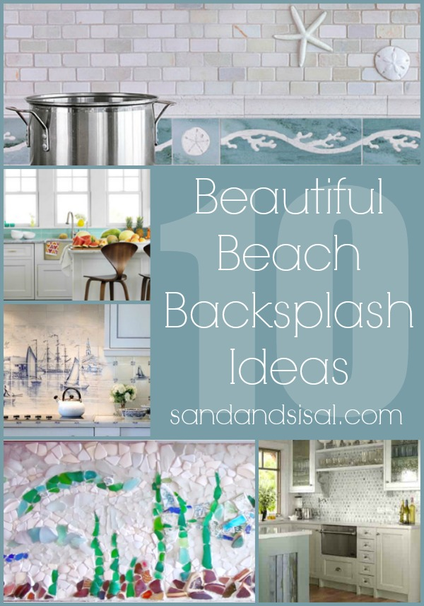 10 beach backsplash ideas sand and sisal - Inspired diy ideas small kitchen ...