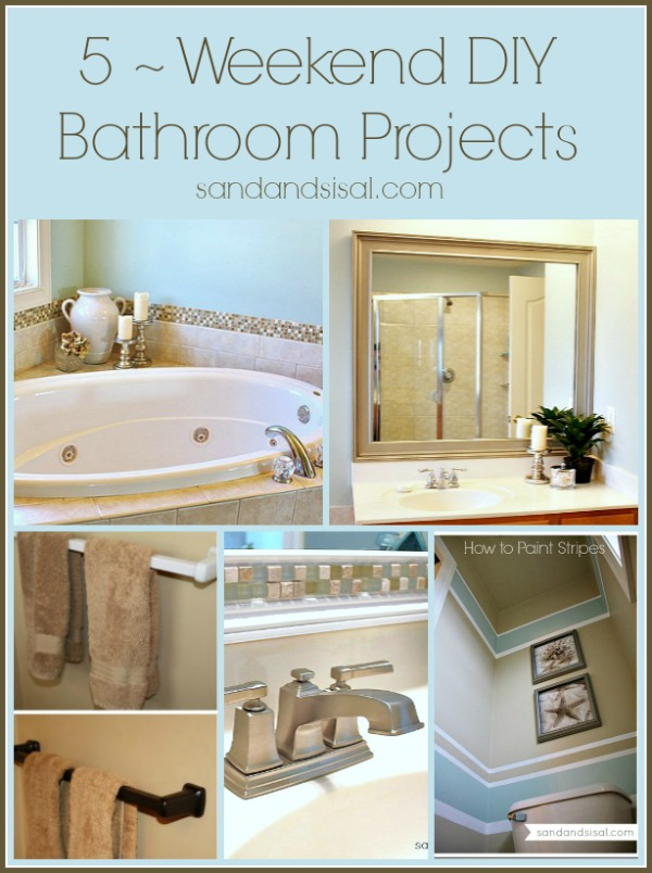 5 weekend diy bathroom projects for Project weekend