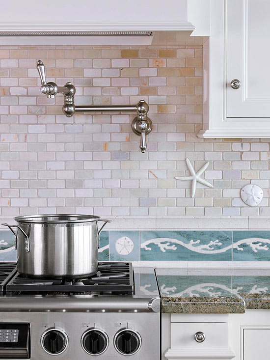 Coastal and Beach Backsplash Ideas - Sand and Sisal
