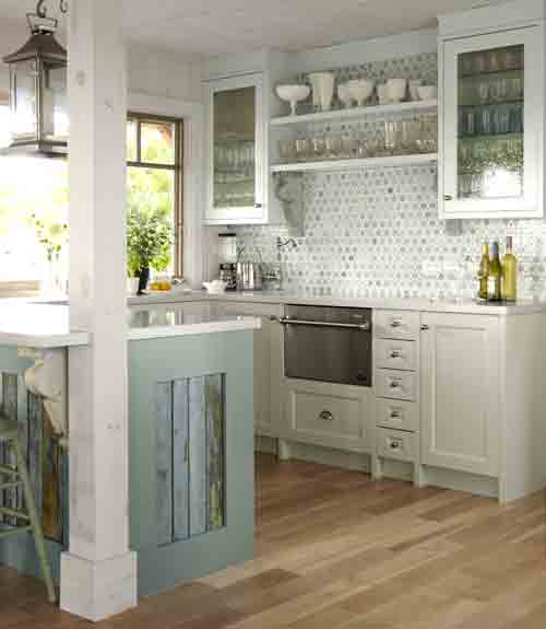 10 Beautiful White Beach House Kitchens: 10 Beach Backsplash Ideas