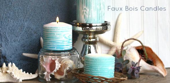 Faux Bois Candles slide