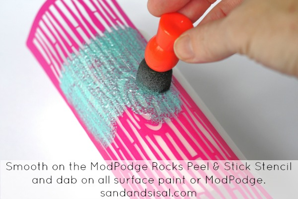 Mod Podge Peel and Stick Stencils