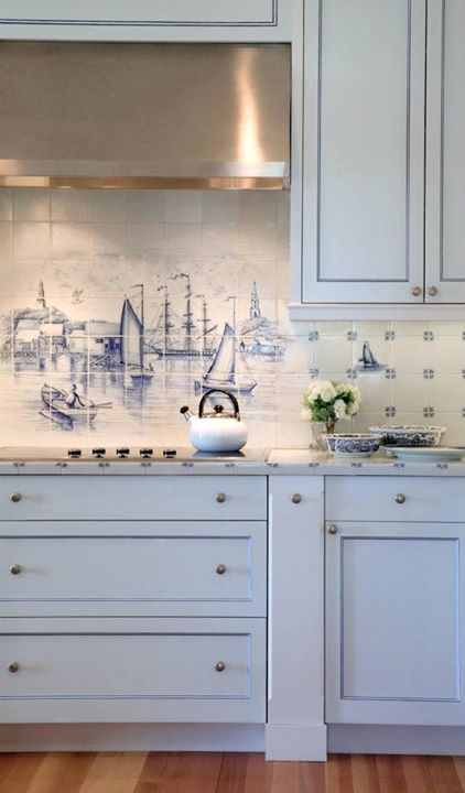 Nautical Backsplash - Coastal and Beach Backsplash Ideas