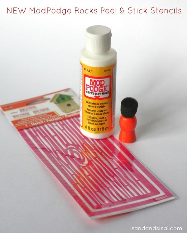 New ModPodge Rocks Peel & Stick Stencils