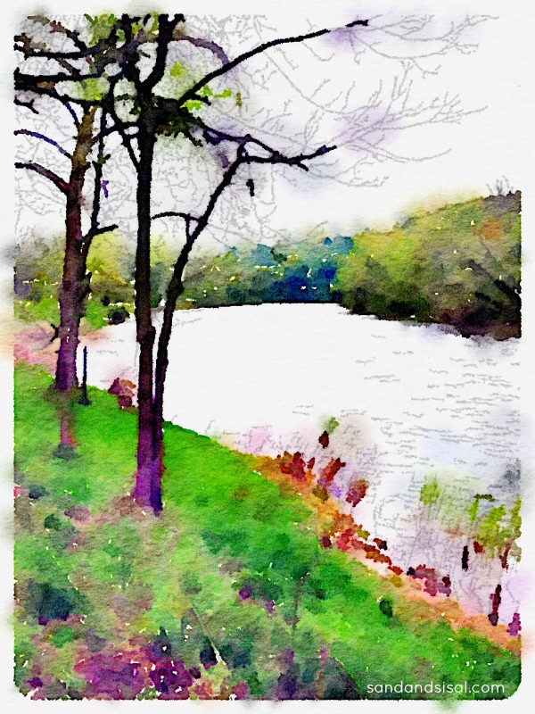 River in Michigan - Waterlogue