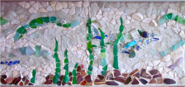 Sea Glass Backsplash