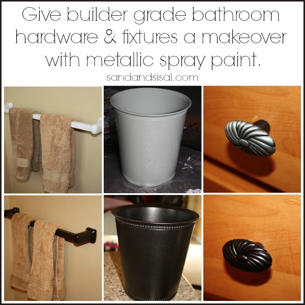 Update Builder Grade Hardware with Metallic Spray Paint