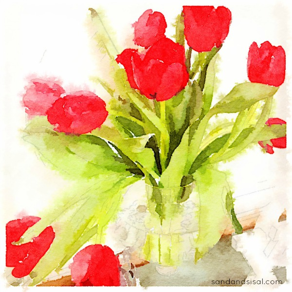 Waterlogue App - Tulips