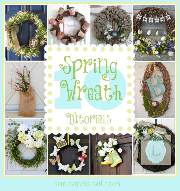 10 Spring Wreath Tutorials + Giveaway Winner