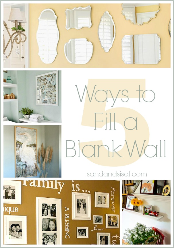 5 ways to fill a blank wall sand and sisal for What to do with a blank wall