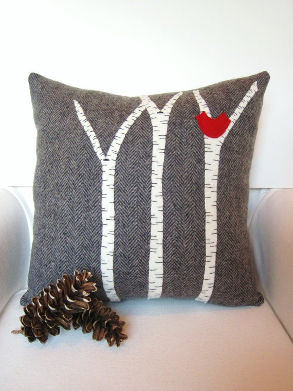 Birch Branch Pillow