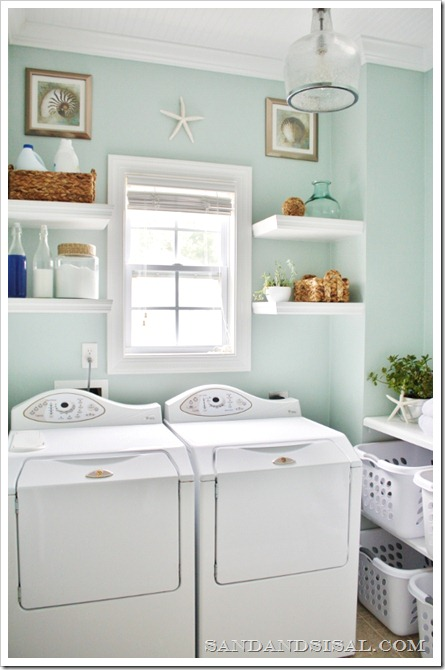 Coastal Laundry Room Makeover