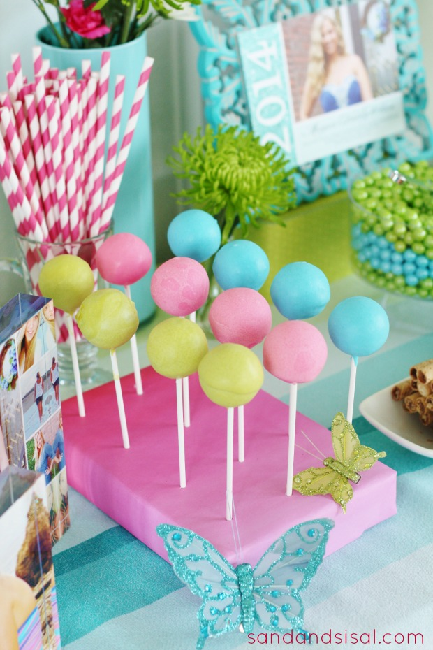 Graduation Party Dessert Table - Brownie Pops