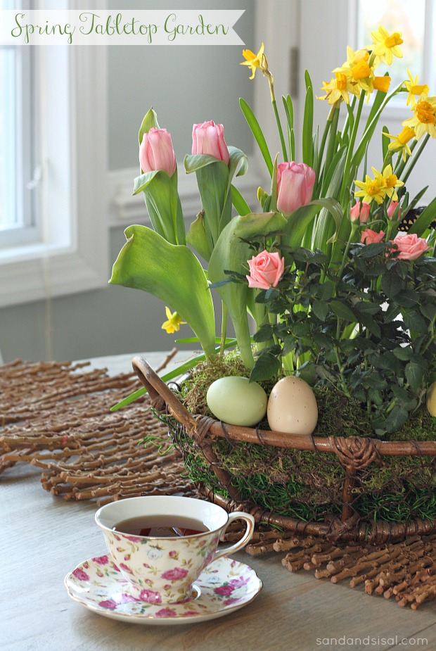 Spring Tabletop Centerpiece