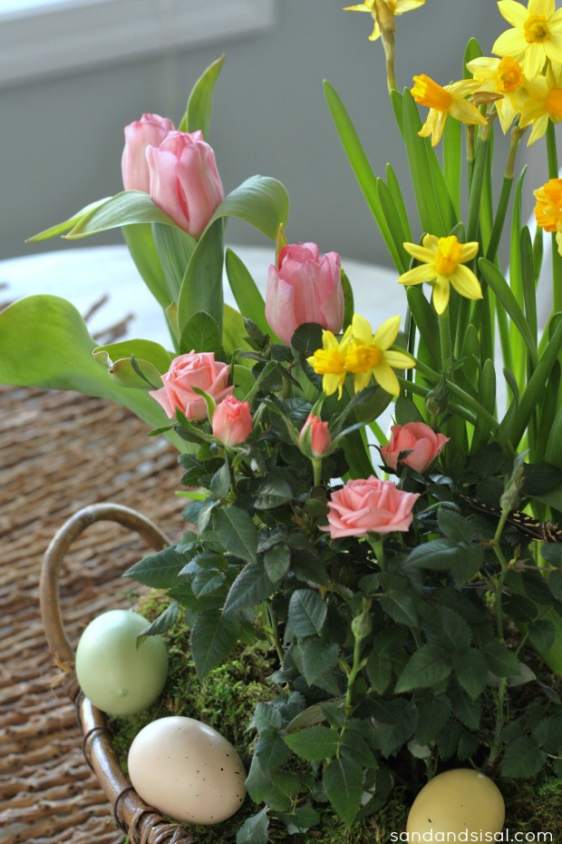 Spring Tabletop Centerpiece