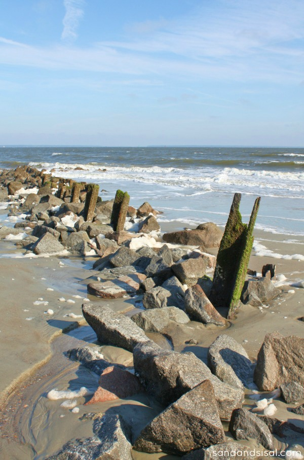 rock jetty Tybee Island
