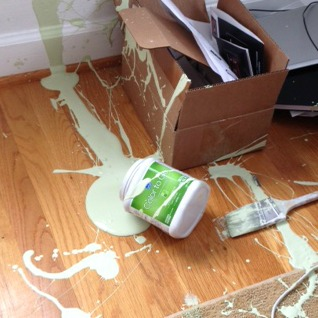 Don T Cry Over Spilled Paint Sand And Sisal