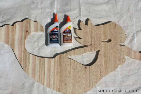 DIY Cedar Mermaid Art
