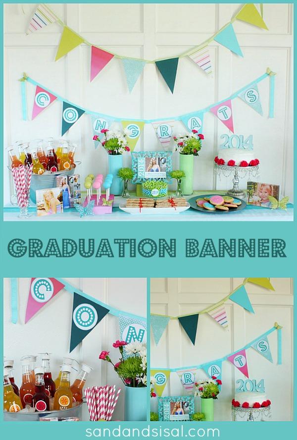 diy graduation banner   sand and sisal