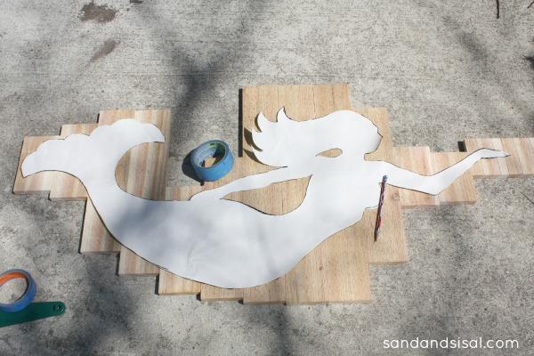 How to make wood mermaid art
