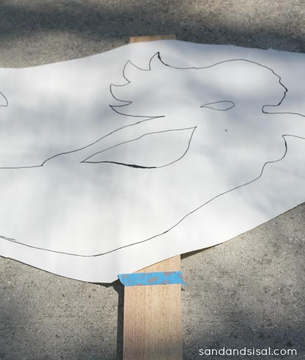 Mermaid silhouette on paper