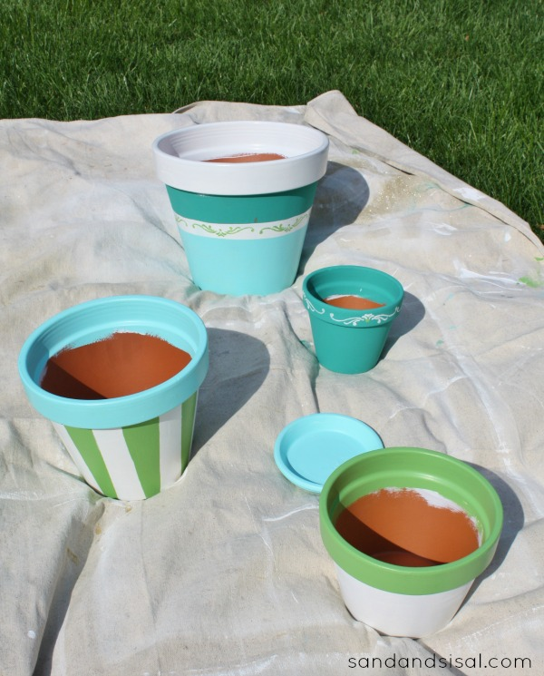 Painted Terracotta Pots