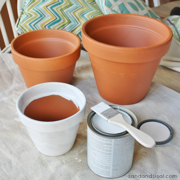 How To Paint Terracotta Pots Sand And Sisal