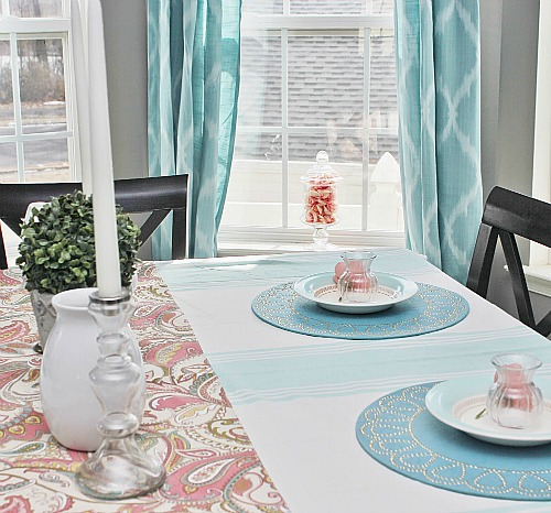 Our Spring Dining Room: 5 Sea Glass Colored Projects