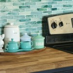 Sea Glass Colored Backsplash