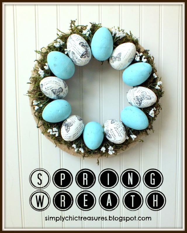 Spring Easter Stamped Egg Wreath