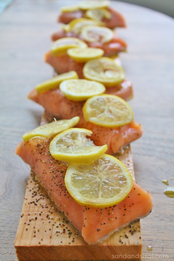 Baked Salmon on Cedar