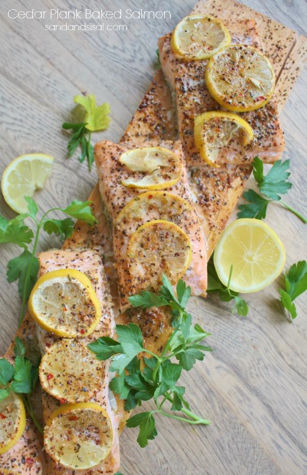Cedar Plank Baked Salmon