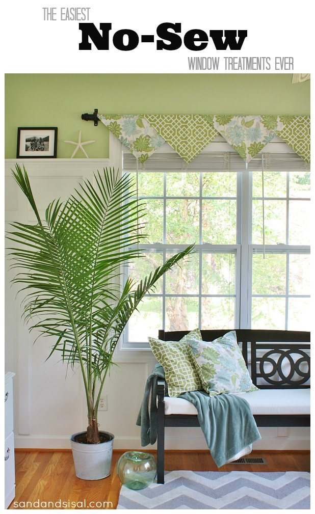 The Easiest No Sew Window Treatments Ever Sand And Sisal