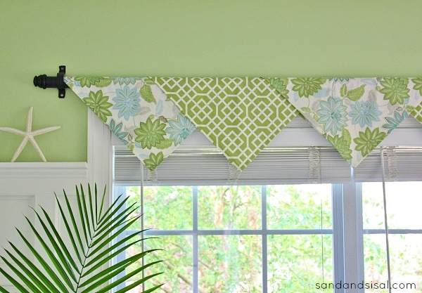 The easiest no sew window treatments ever sand and sisal Window treatment ideas to make