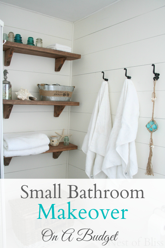 cottage look perfectly with this gorgeous small bathroom makeover