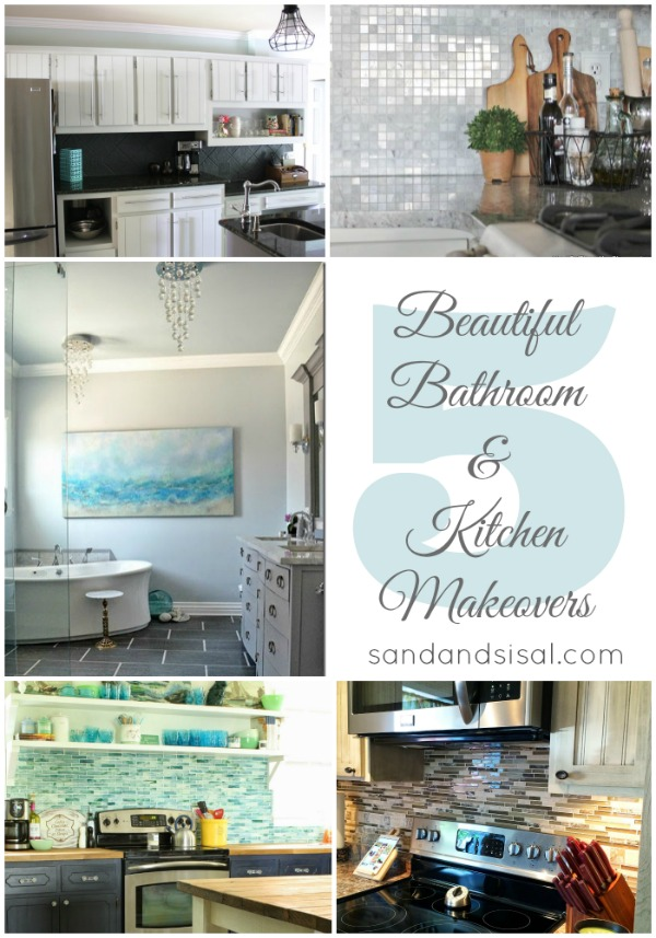 5 Beautiful Bathroom + Kitchen Makeovers