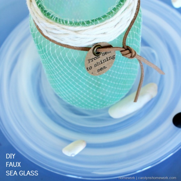 DIY Faux Sea Glass Jars