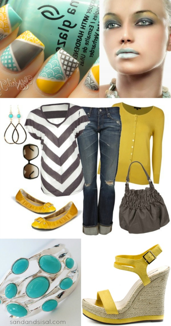Grey + Yellow + Turquoise Fashion