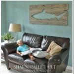 DIY Pallet Art -Shark