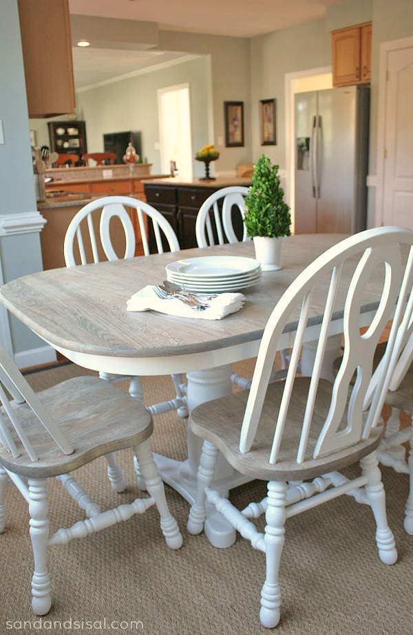 Two-Toned-Table-How-to-refinish-a-table #havertysinspired