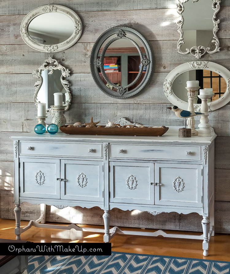 White Sideboard Makeover