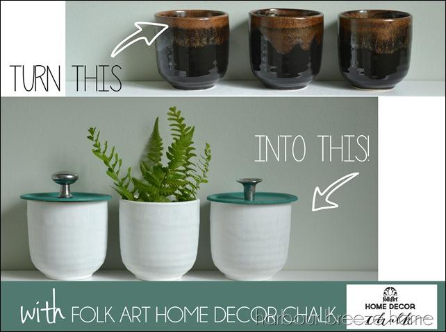 folkart chalk paint bathroom storage jars
